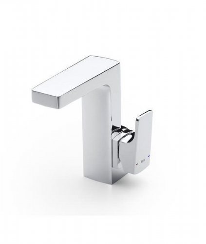 Roca L90 Cold Start Basin Mixer Tap With Pop-Up Waste Lateral Handle - Chrome